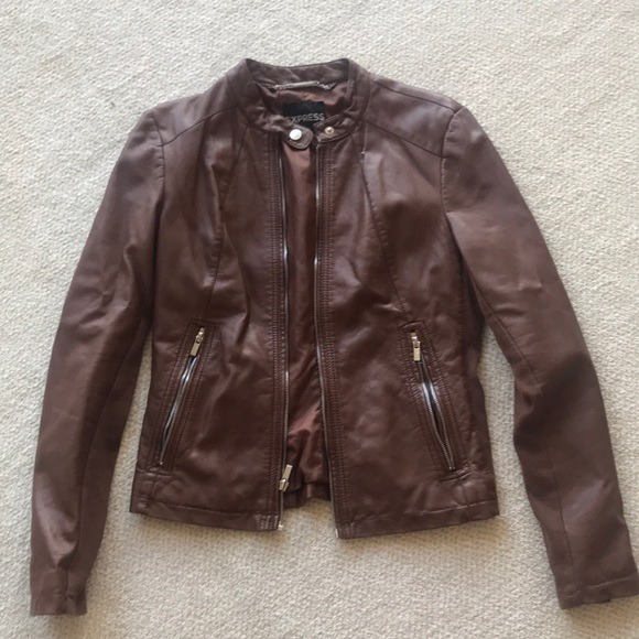 Express Jackets & Blazers - Express Brown (Minus the Leather) Jacket